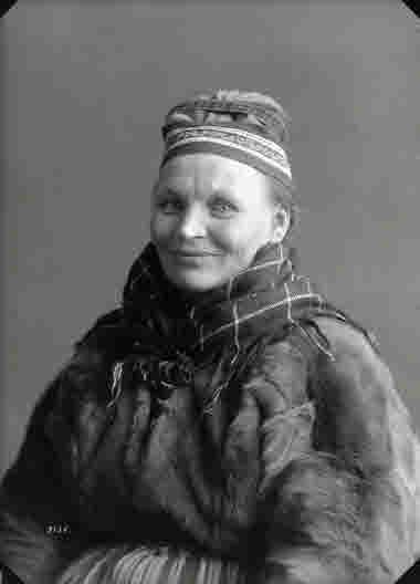 Porträtt av Maria Sarri, Nikkaluokta, 43 år den 15 mars 1930.