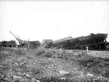 Urspårande malmvagnar Krokvik 3/8-1921.