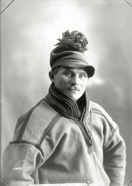Porträtt av Anders Niia den 22 juni 1917.