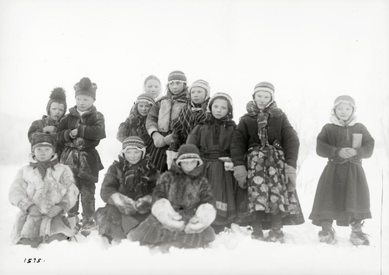 Same-barn från Lannavaara den 11 februari 1917.