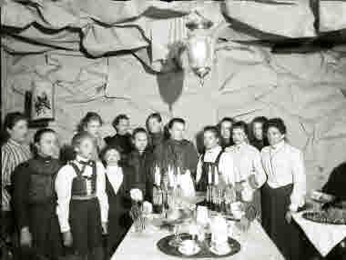 Fest för en kvinnogrupp.