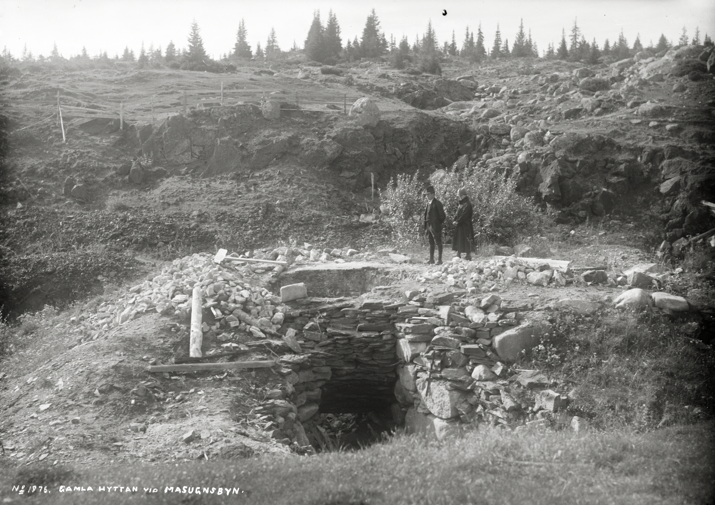 Gamla hyttan i Masugnsbyn den 1 september 1924.