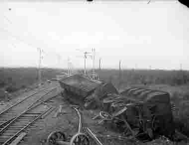 Urspårning av malmvagnar Krokvik 3/8-1921.
