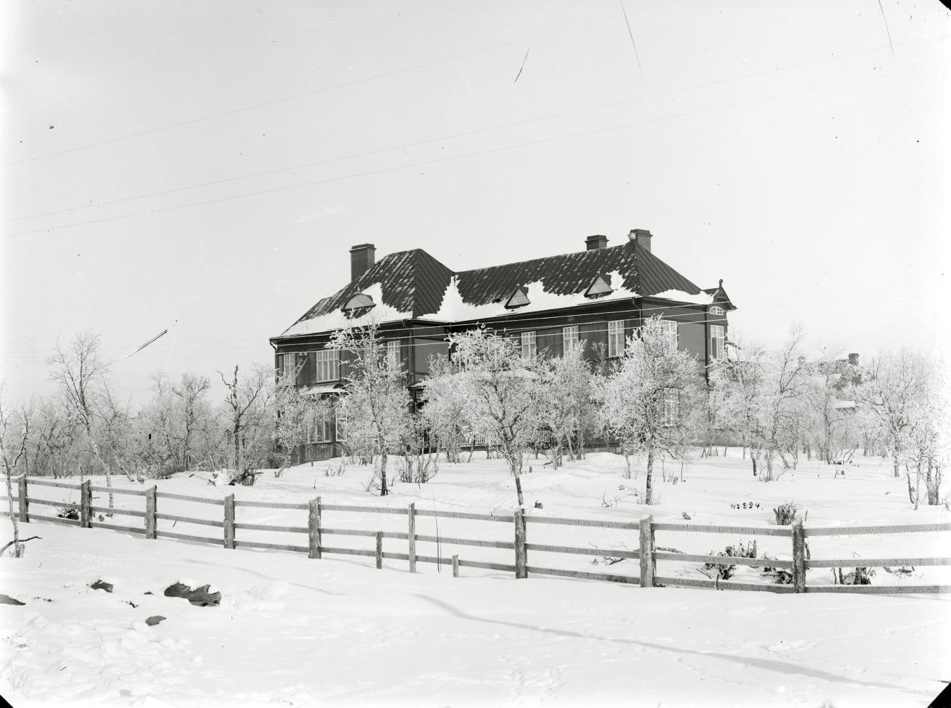 Bolagshotellet Kiruna vintertid.