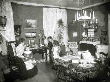 Interiör från ett Kiruna-hem.