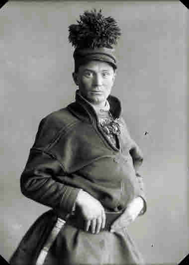 Porträtt av Per Nilsson Sarri, Nikkaluokta den 5 mars 1930.