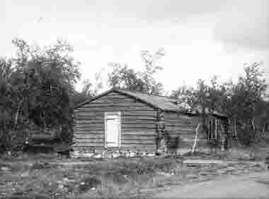 Hjalmar Lundbohms första bostad, B1, i Kiruna.