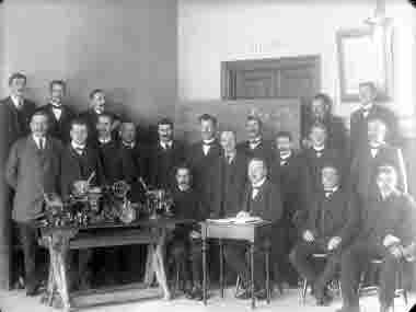 LKAB personal på kurs i Bolagsskolan 27/3-1913