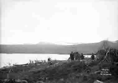 Motiv från boställe vid Situojaure den 15 september 1915.