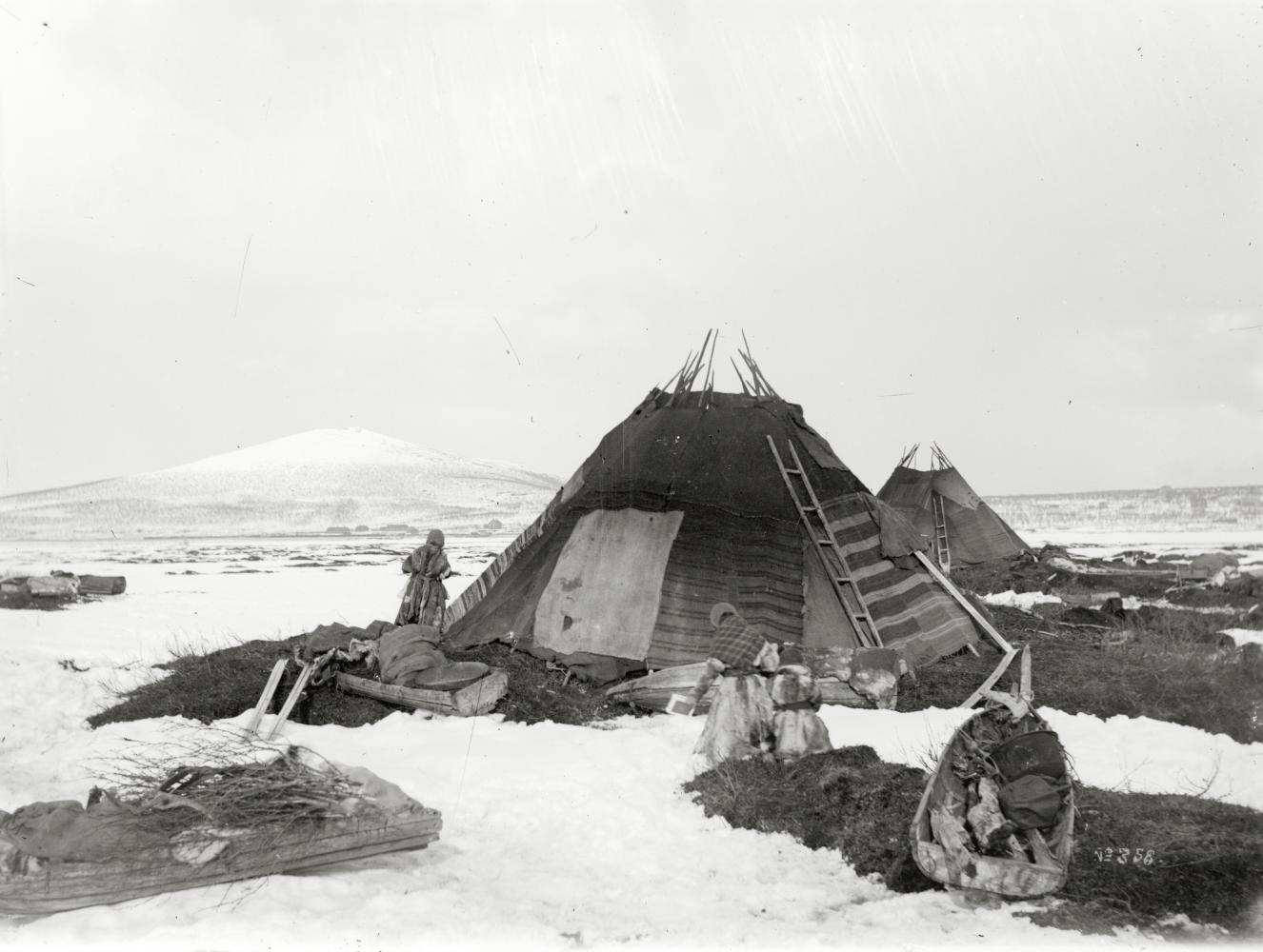Same-boställe på Luossavuoma år 1906.