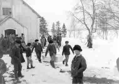 Begravning i Jukkasjärvi år 1901.