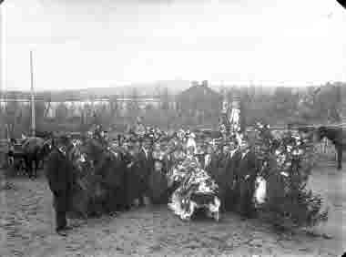 Fru Falks begravning 1920