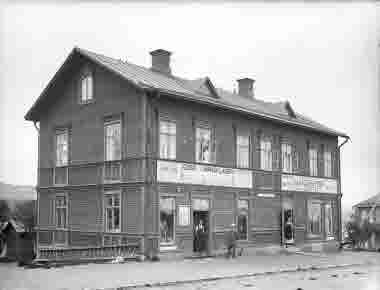 Affärshus MangigatanKiruna kring 1910