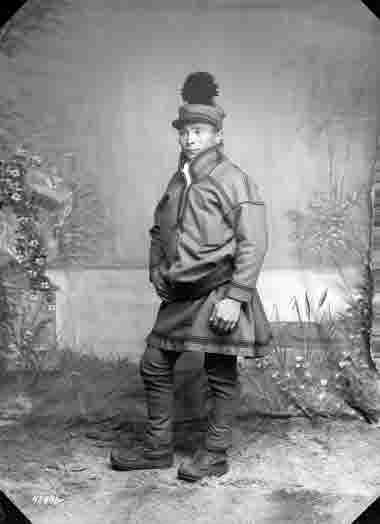 Porträtt av Petter Mikelsson Haugli den 16 juli 1913.