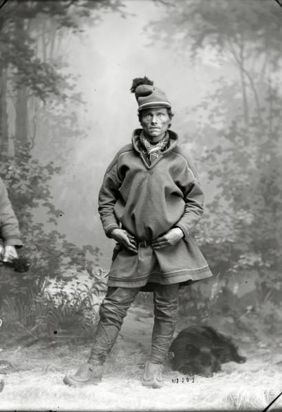Porträtt av Petter Huuva, Kalasvuoma år 1902.