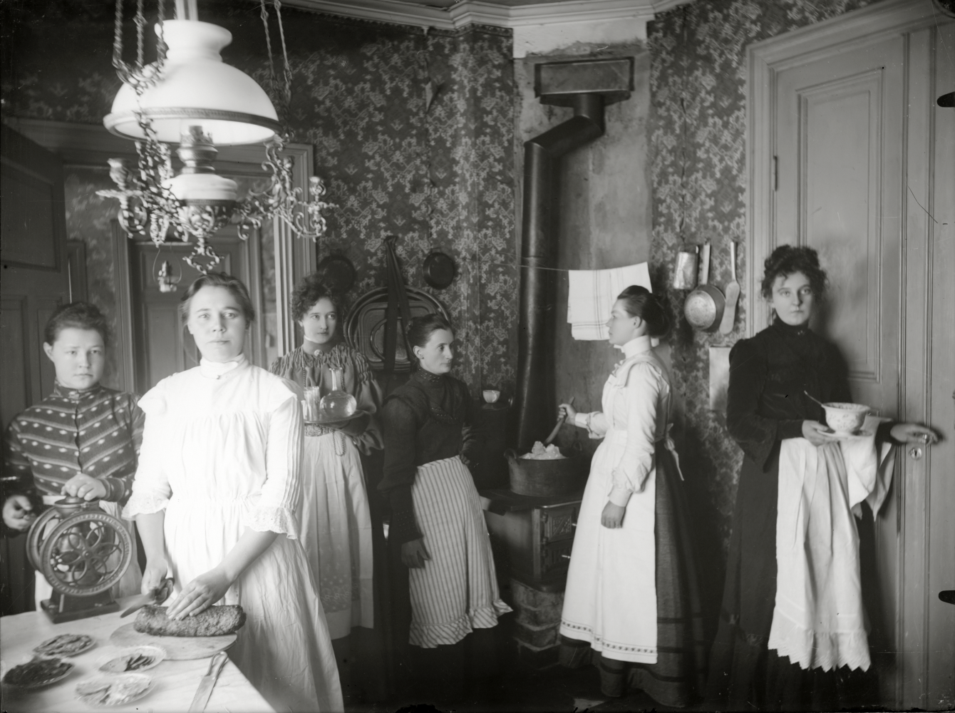 Matservering interiör.kring 1912.