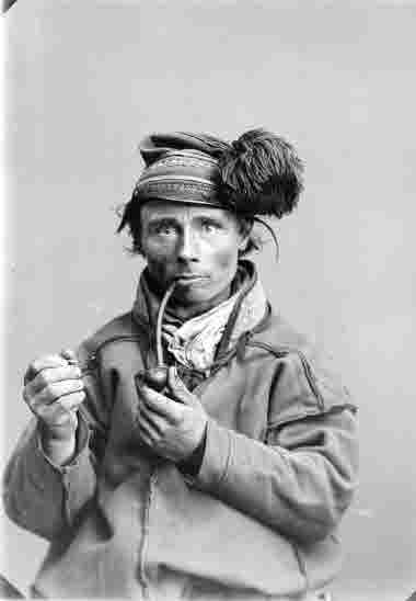 Porträtt av Johannes Svonni, omkring 1905.